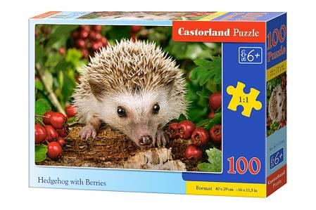 Пазлы Ёжик с ягодами на 100 элементов, фото 2