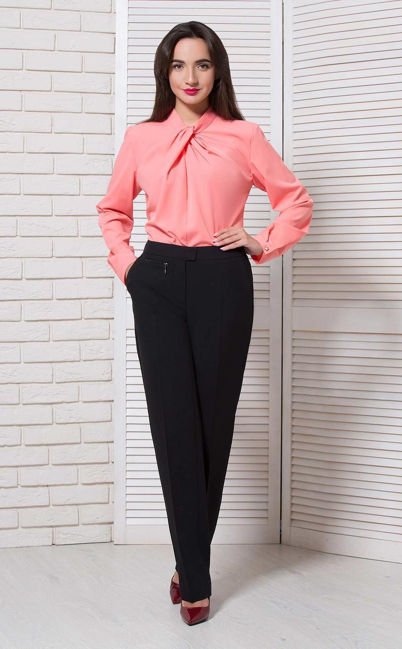 Блуза офис на стойку розовая BerdToni