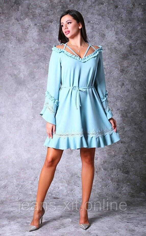 Сукня жіноча 36(р) блакитна 8638 Poliit Україна Осінь-B