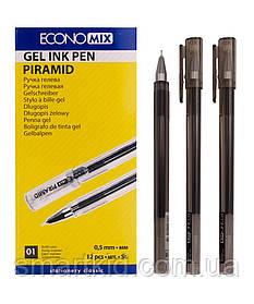 Ручка гелева PIRAMIDA 0,5 mm чорна