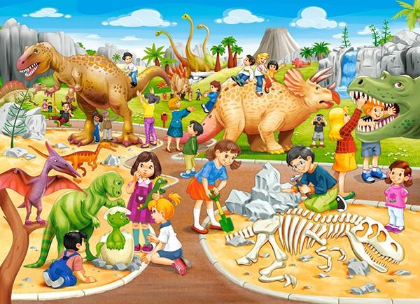 Пазлы Парк динозавров на 70 элементов