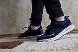 Мужские синие кроссовки сетка. Чоловічі сині кросівки сітка., фото 3