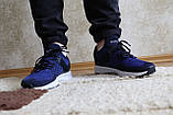 Мужские синие кроссовки сетка. Чоловічі сині кросівки сітка., фото 4