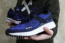 Мужские синие кроссовки сетка. Чоловічі сині кросівки сітка.