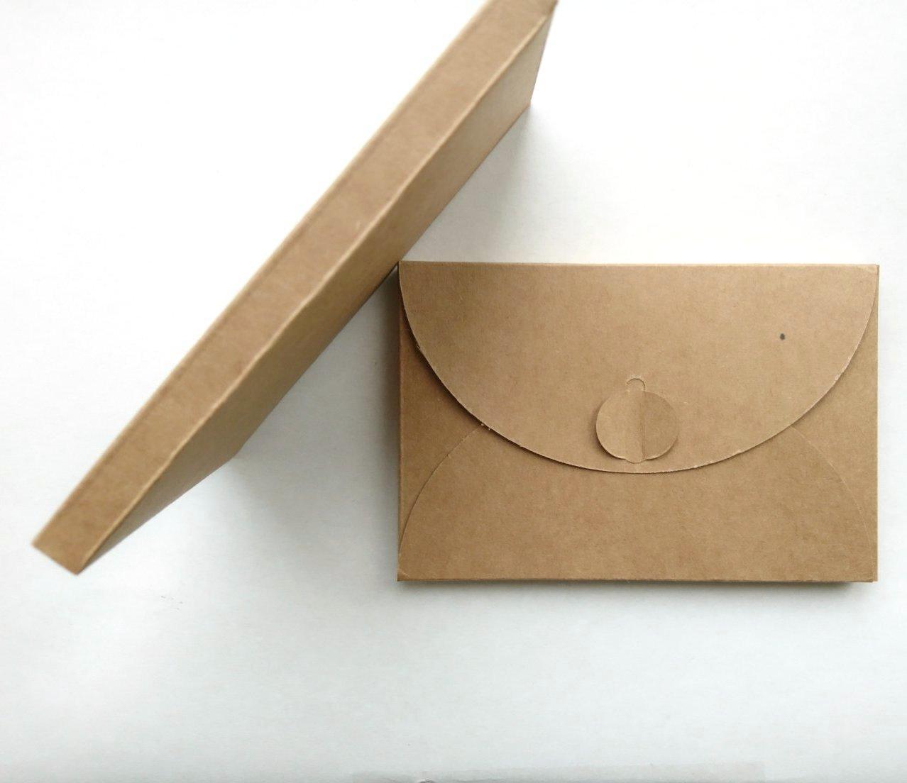 Подарочный конверт из эко крафт-картона 80х120х8 мм + ПОДАРОК (на 200 шт конвертов)