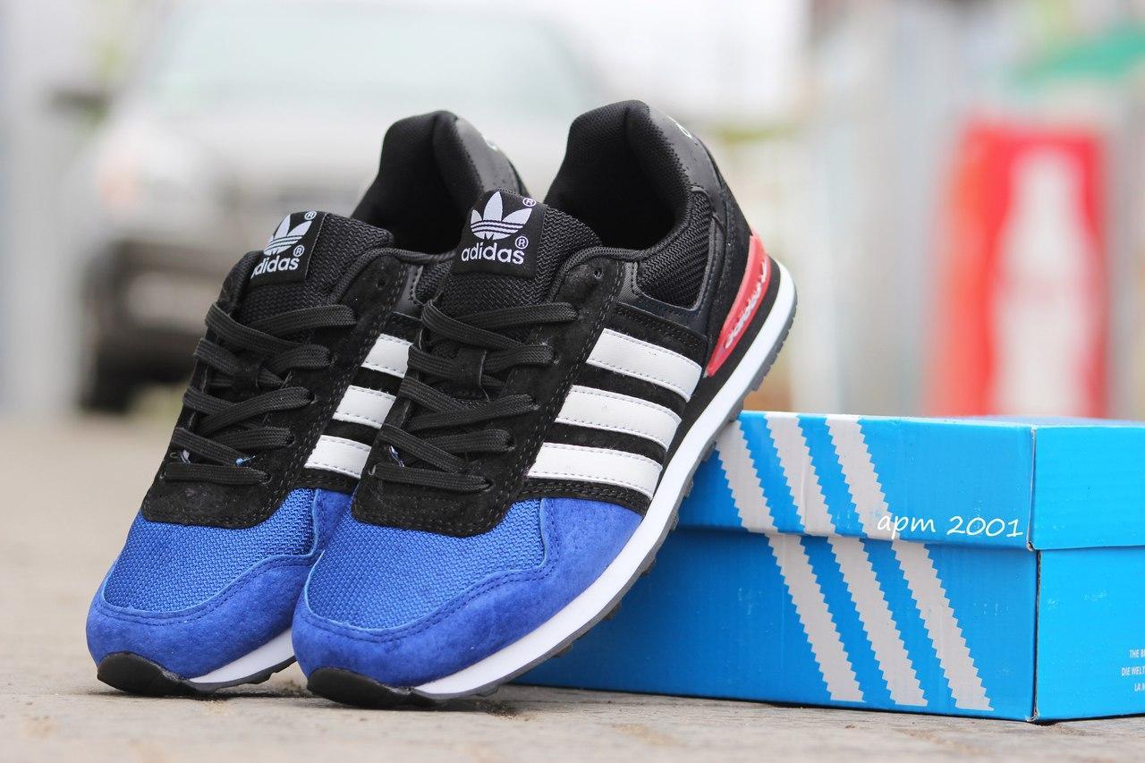 Подростковые \ женские кроссовки (в стиле) Адидас, Adidas темно синие с черным
