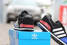 Подростковые \ женские кроссовки (в стиле) Адидас, Adidas темно синие с черным , фото 3