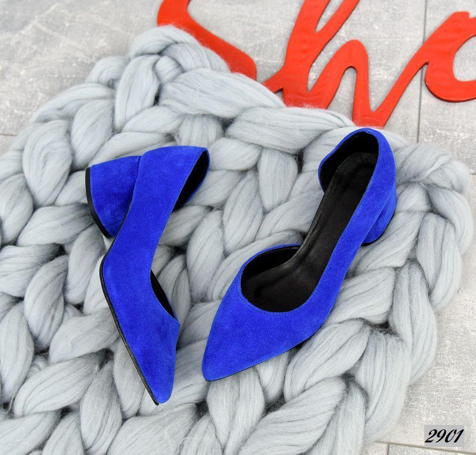 Шикарные замшевые туфли на каблучке 36-40 р электрик