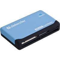 Картридер Defender Ultra USB 2.0 Black Blue (83500), фото 1