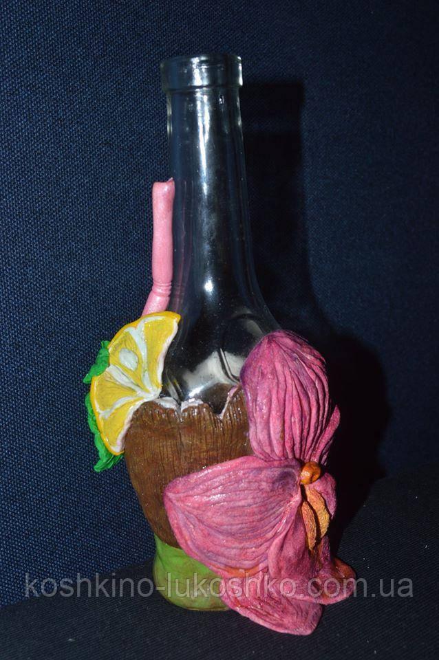 """Сувенирная бутылка  """"коктейль и орхидея"""""""