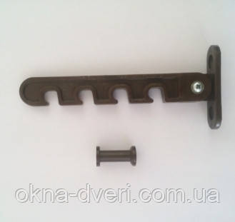 Гребенка ограничитель открывания створки металлопластикового окна коричневая шток пластик