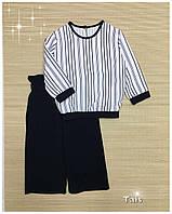 Стильный костюм для девочки блузон с кюлотами код 0204