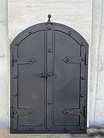 Дверца под коптилку арка метал 600х500мм