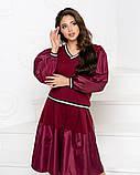 Стильный прогулочный  комбинированный костюм с широкой юбка-шорта и свитшот, 3цвета,  р.42-46,48-52 код 2111Б, фото 5