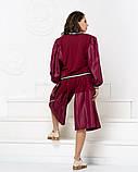 Стильный прогулочный  комбинированный костюм с широкой юбка-шорта и свитшот, 3цвета,  р.42-46,48-52 код 2111Б, фото 6