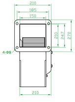 Вентилятор центробежный (радиальный) малый ВРМ 300, фото 3