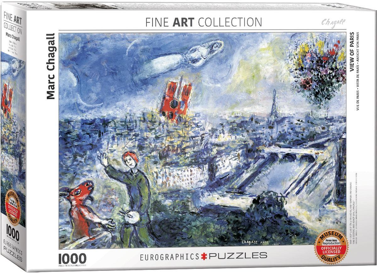 """Пазл """"Вид на Париж"""" Марк Шагал 1000 элементов EuroGraphics (6000-0850)"""