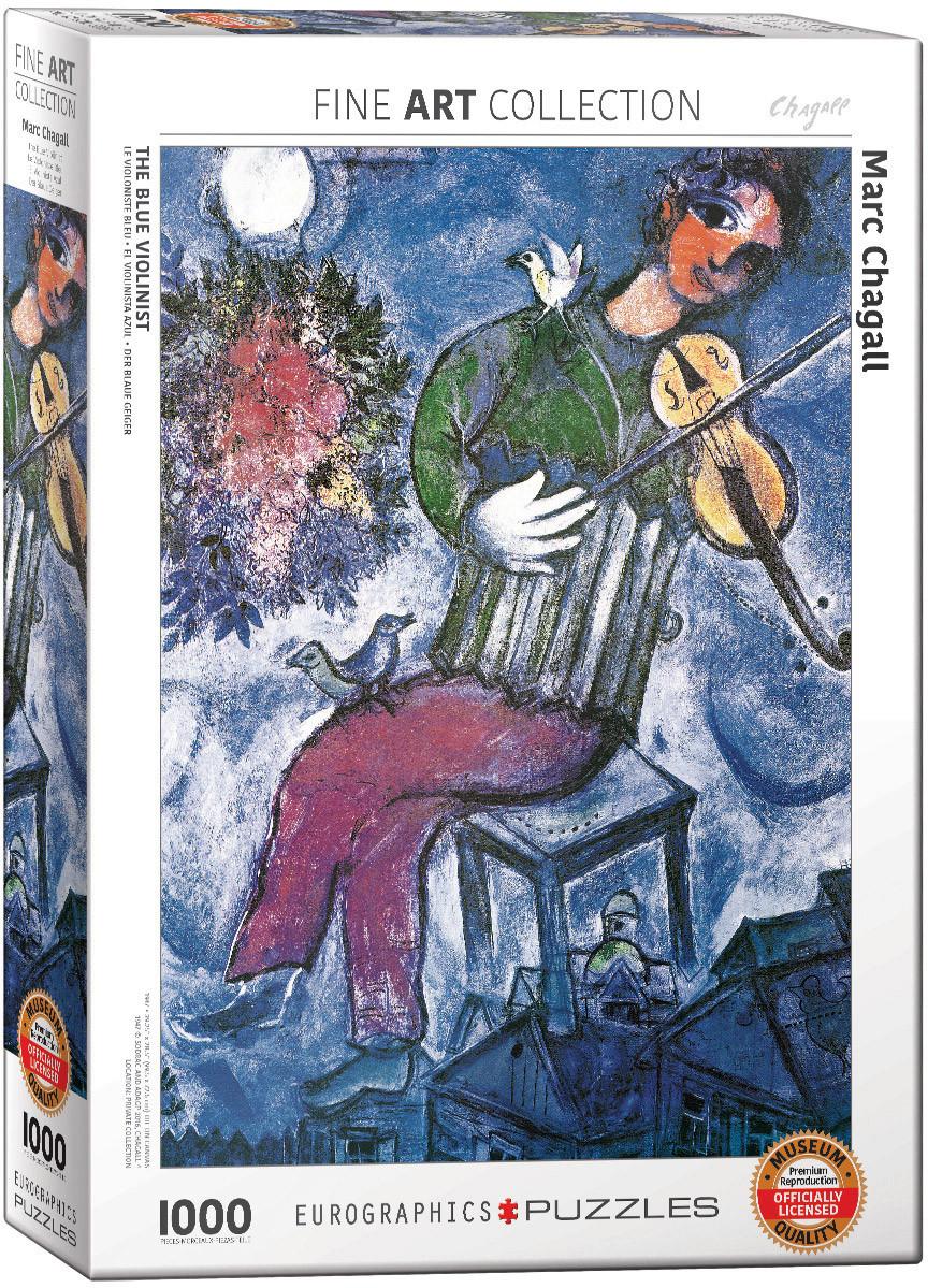 """Пазл """"Синий скрипач"""" Марк Шагал 1000 элементов EuroGraphics (6000-0852)"""