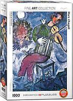 """Пазл """"Синий скрипач"""" Марк Шагал 1000 элементов EuroGraphics (6000-0852), фото 1"""