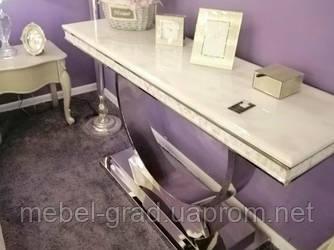 Консоль мраморная X-8130 серебро 150 см Decor Furniture