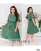 Красивое женское летнее платье  батал с 52 по 60 разм