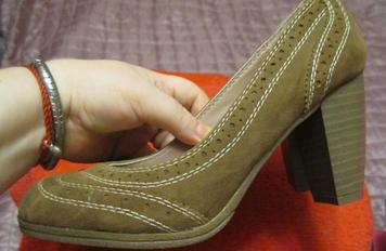 Туфли женские бежевые фабричные как замша 38р фирменные проверенная модель