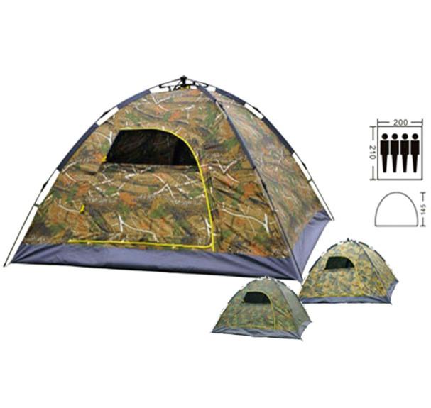 Палатка автомат с автоматическим каркасом 4-х местная 2х2.1 метра UKC камуфляж