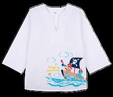 Дитяча сорочка-вишиванка пляжна для хлопчика *Пірат* (рр. 92-104)