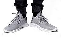 Мужские кроссовки OFF-WHITE серые р:42 (27)см, хорошее качество,размеры в наличии