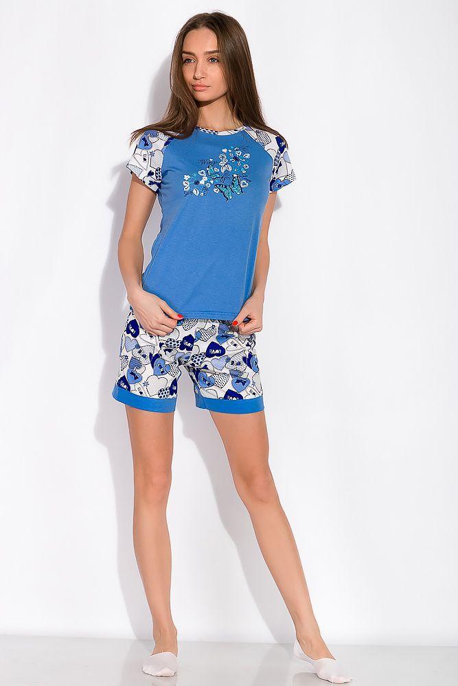 Пижама женская с принтом бабочки 107P2-1