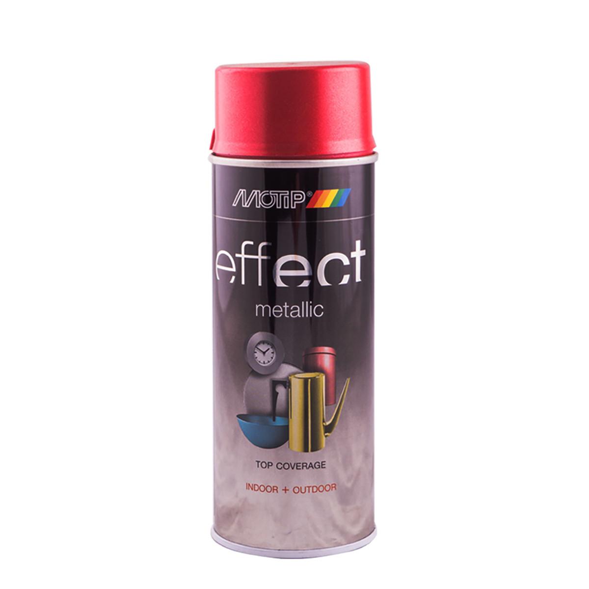Эмаль аэрозольная с эффектом металлик Motip Deco Effect красный 400 мл
