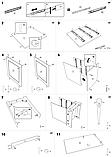Письмовий стіл білий МДФ (120х65х76 см), фото 8