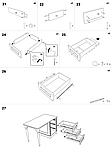 Письмовий стіл білий МДФ (120х65х76 см), фото 10