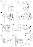 Письмовий стіл білий МДФ (120х65х76 см), фото 9
