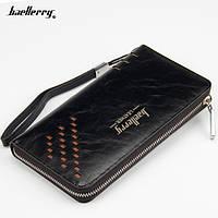 Чоловіче портмоне-клатч Baellerry Leather W009, КОЛІР-ЧОРНИЙ