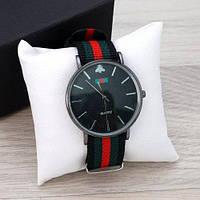Часы Gucci Silver-Black Green-Red