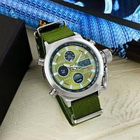 Часы AMST 3003 Silver-Green Green Wristband Original точная копия, качество AAA