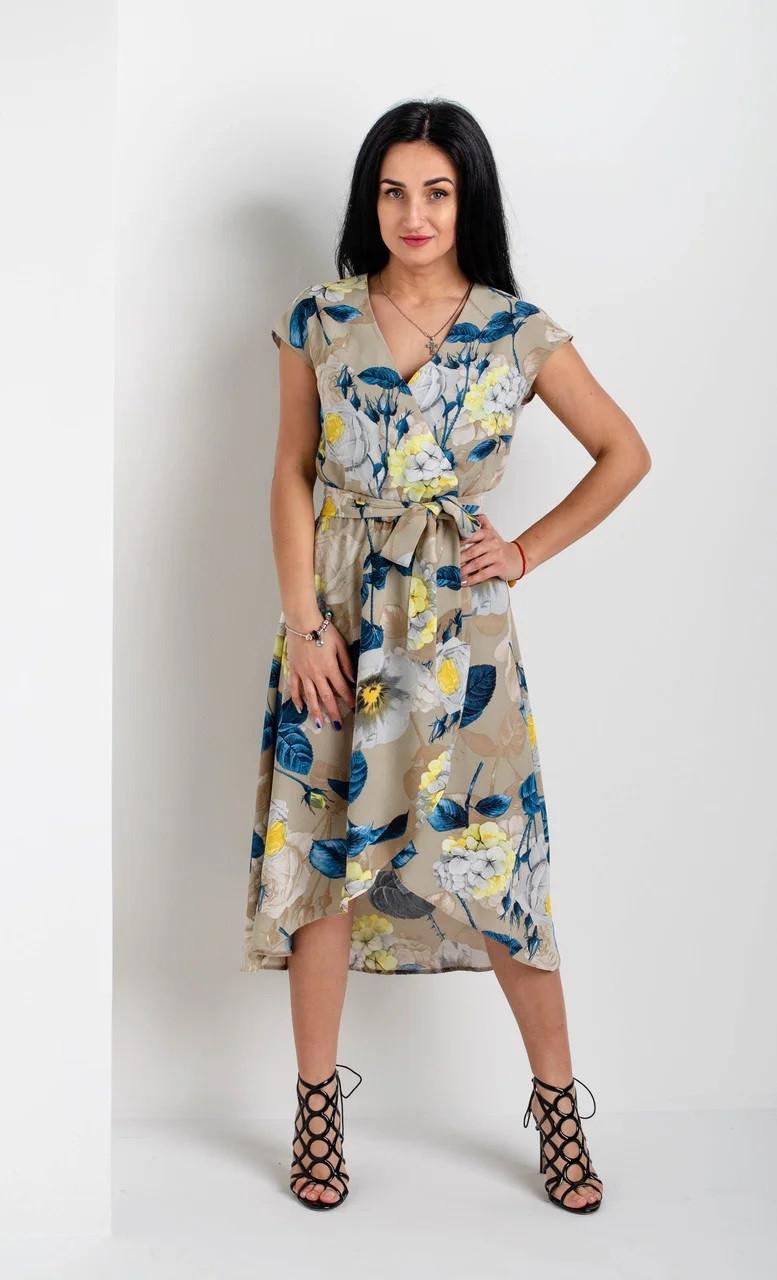 Воздушное легкое платье с цветочным рисунком