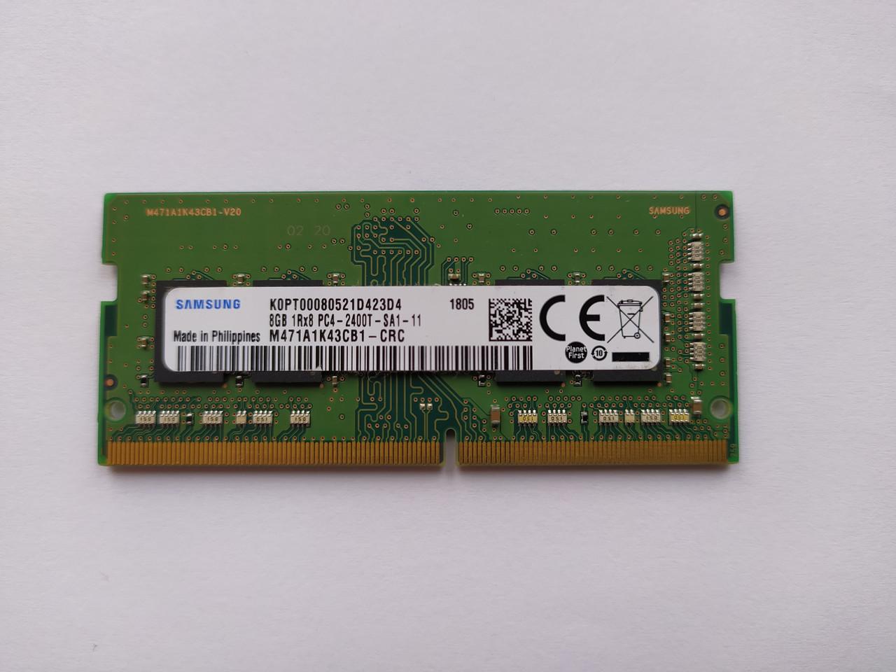 Оперативная память для ноутбука SODIMM Samsung DDR4 8Gb PC4-2400T (M471A1K43CB1-CRC) Б/У