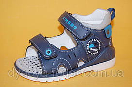 Дитячі Босоніжки Kimboo Китай 7301 Для хлопчиків Синій розміри 20_25