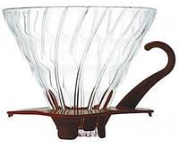 Фильтр-кофеварка Hario V60 02 Glass Dripper (600 мл) Brown