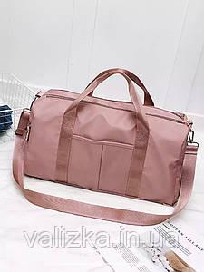 Якісна дорожня сумка / спортивна сумка для фітнесу, залу з відділенням для взуття рожева