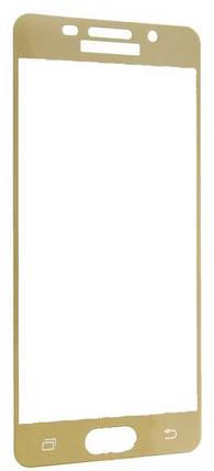 Защитное стекло 2.5D для Samsung A3 (2016) A310 Золотой, фото 2