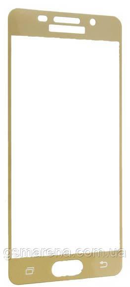 Защитное стекло 2.5D для Samsung A3 (2016) A310 Золотой