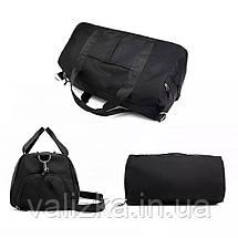 Качественная женская дорожная сумка / спортивная сумка для фитнеса с отделением для обуви черная, фото 3