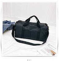 Женская дорожная сумка для ручной клади, путешествий с отделением для обуви / спортивная сумка черная