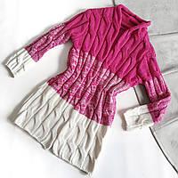 Кардиган вязанный розовый с градиентным переходом к белому