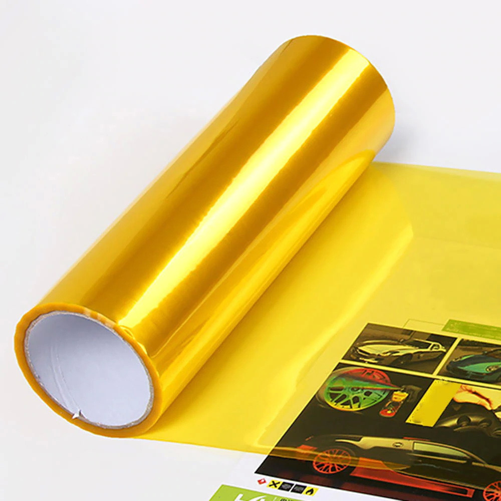 Авто пленка защитная Annhao глянцевая желтая 30х100см тонировочная бронепленка (Avp-010-100)