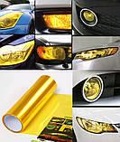 Авто пленка защитная Annhao глянцевая желтая 30х100см тонировочная бронепленка (Avp-010-100), фото 3