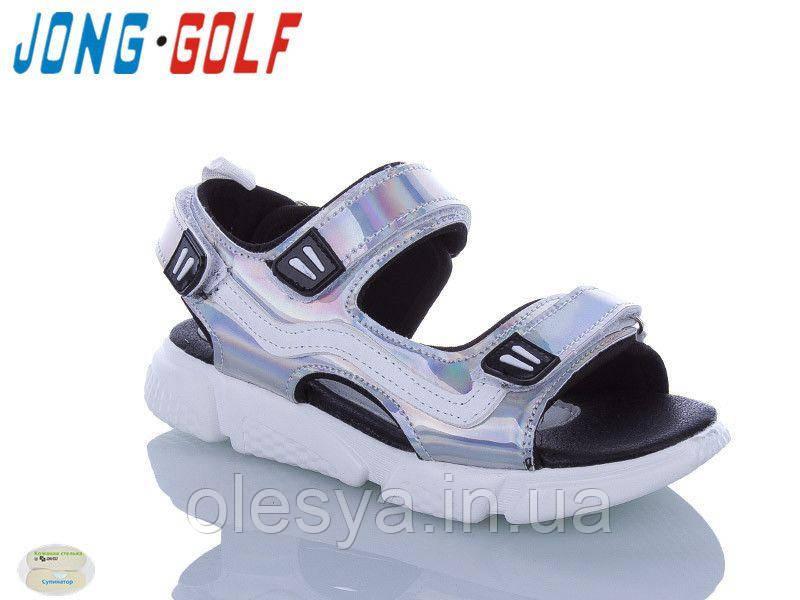 Сандалии с голограммой для девочек 90815 ТМ Jong Golf Размеры 32- 35 Новинки 2020